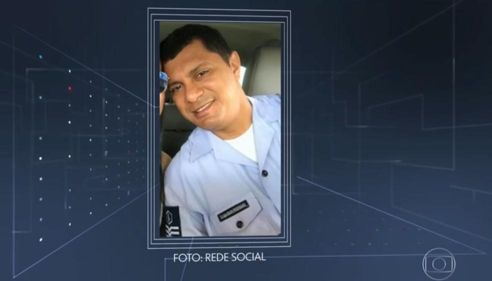 Sargento da Aeronáutica brasileira Manoel Silva Rodrigues, que foi detido na terça-feira (25) no aeroporto de Sevilha, na Espanha — Foto: Redes sociais/ Reprodução TV Globo