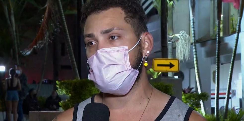 Atleta Alan Fonteles é agredido em pátio do Detran na Zona Sul da capital paulista — Foto: Reprodução/TV Globo