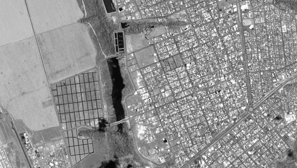 Imagens feitas pelo CBRS-4A foram divulgadas pelo Inpe  — Foto: Divulgação/Inpe