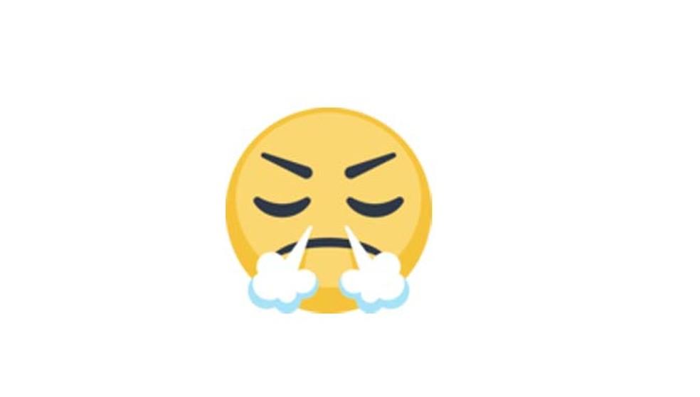 O emoji acima não representa raiva, mas triunfo (Foto: Reprodução/ Emojipedia)