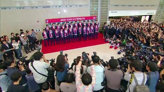 Festa e ovada: Coreia do Sul é recebida em Seul após vitória sobre Alemanha