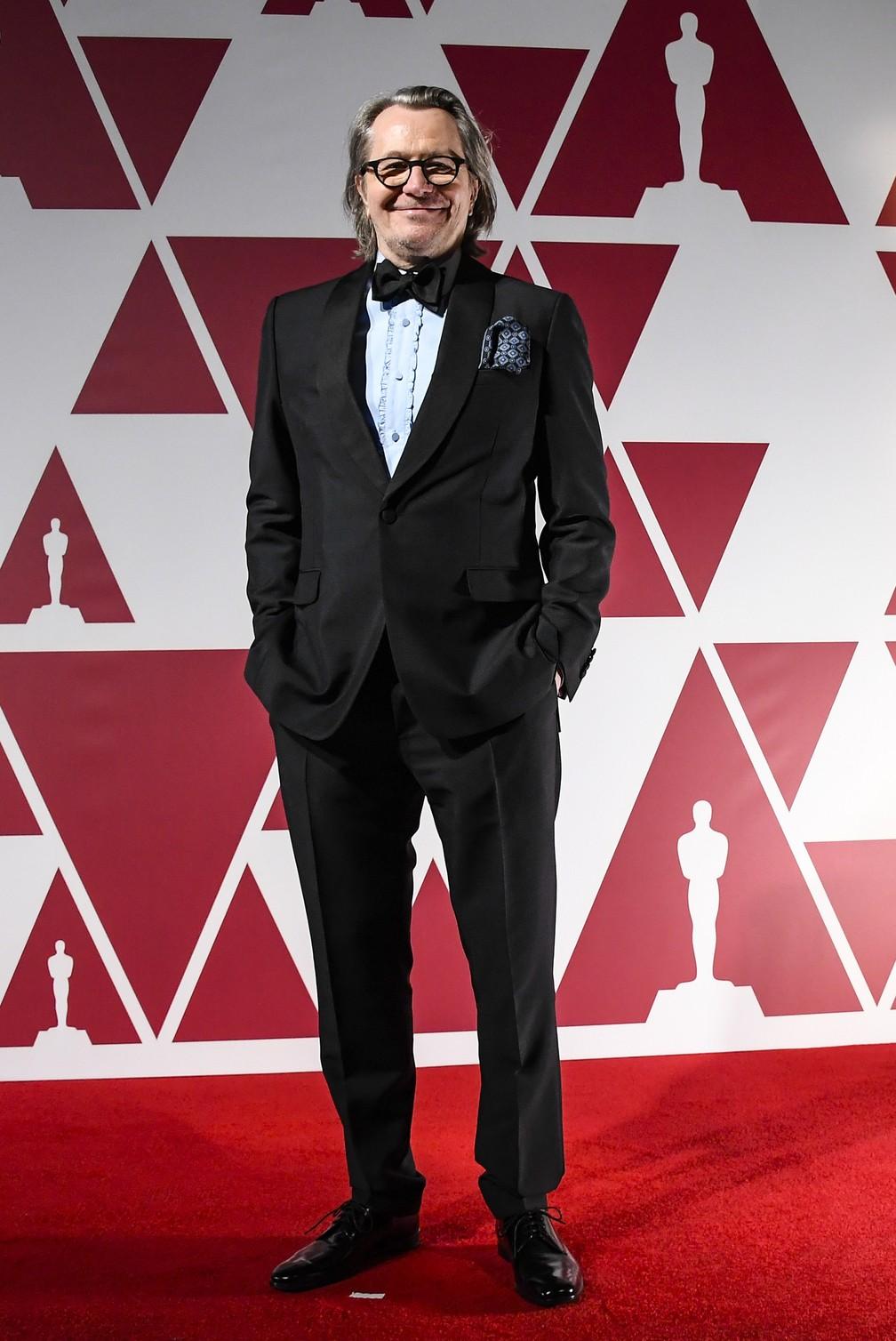 "Gary Oldman, indicado por ""Mank"", no Oscar 2021 — Foto: AP Photo/Alberto Pezzali"