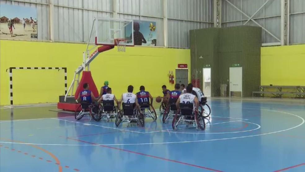 Time de basquete se prepara para Copa Norte Nordeste em 2020 — Foto: Reprodução/Rede Amazônica Acre