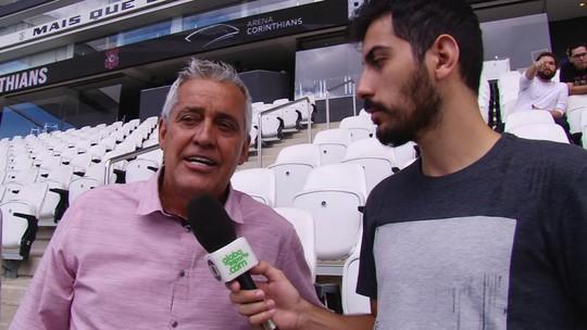 """Mauro Naves, sobre Fiel em treino do Corinthians: """"Estou na dúvida se é apoio ou pressão"""""""