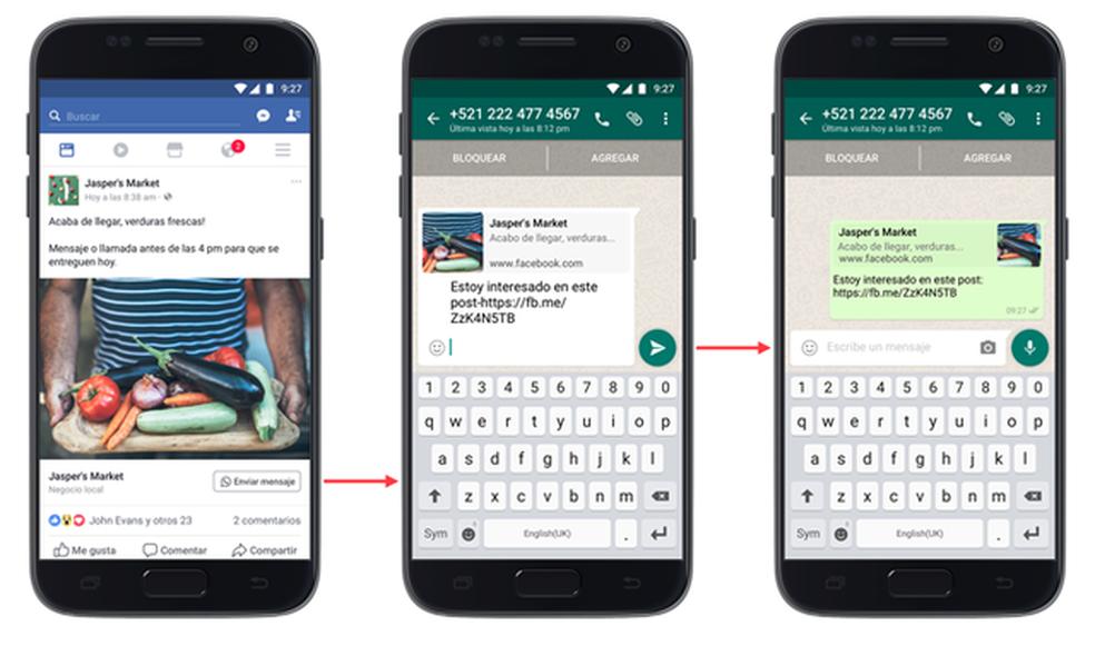 Botão do WhatsApp em anúncios do Facebook (Foto: Divulgação/Facebook)