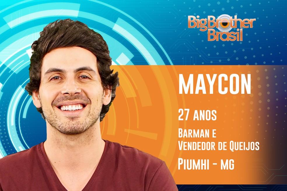 Maycon se define como polêmico e diz que conversa até com ovo — Foto: TV Globo