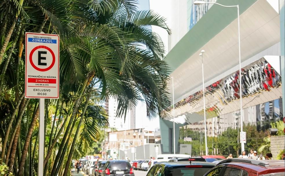 Zona Azul no Recife — Foto: Andre Rego Barros/ Prefeitura do Recife/Divulgação
