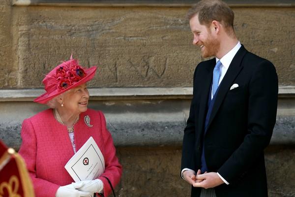 Rainha Elizabeth II e príncipe Harry em maio de 2019 (Foto: Getty Images)
