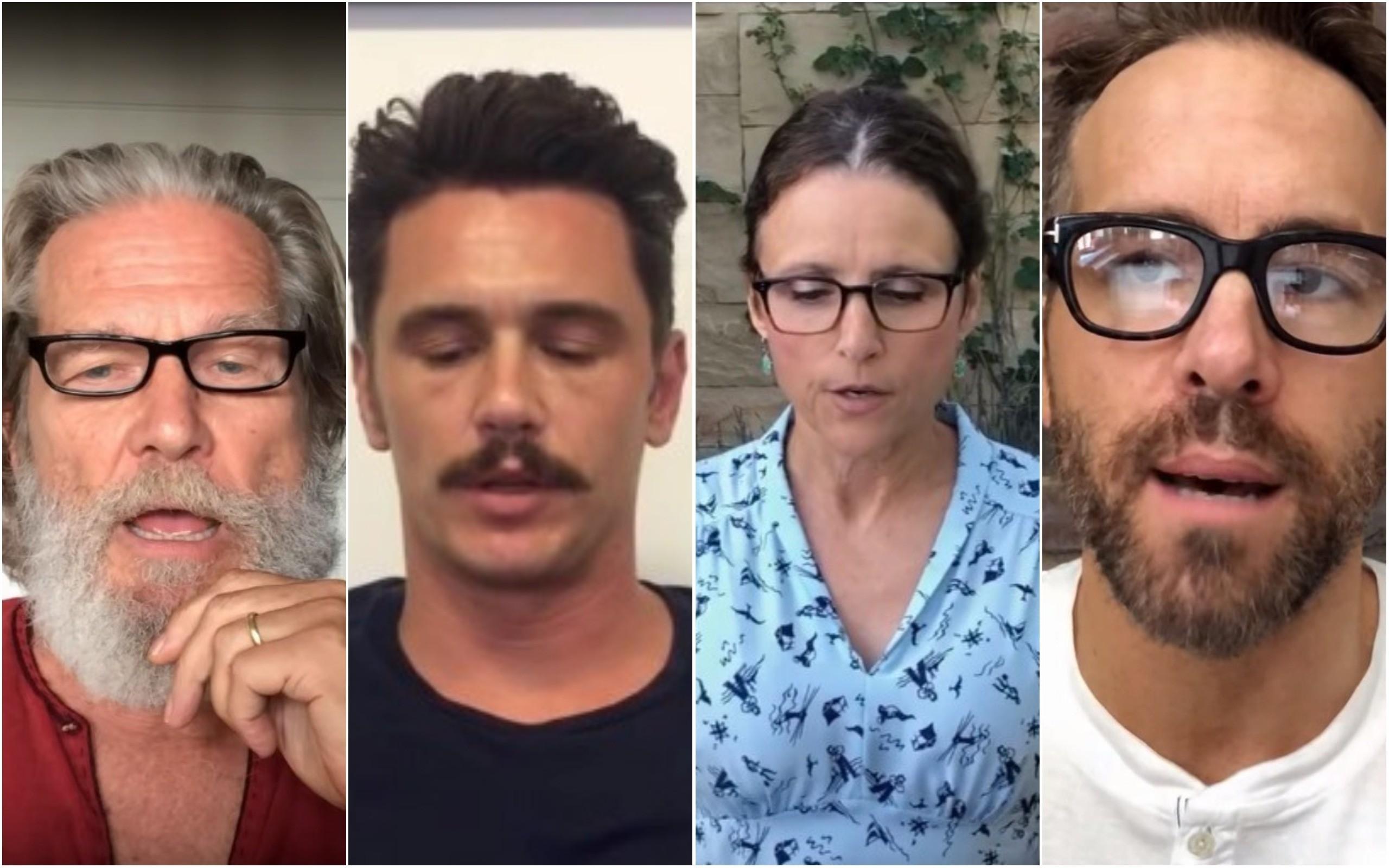 Kurt Russell, James Franco, Julia Louie-Dreyfuss e Jake Gyllenhaal (Foto: Reprodução/Youtube)