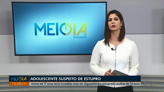 Adolescente é apreendido em Jaguariaíva suspeito de estuprar idosa, diz PM