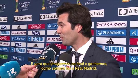 À frente do Real Madrid, Solari revela expectativa para a final contra o Al Ain no Mundial de Clubes