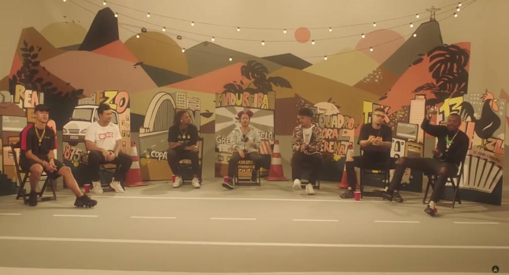 Poesia Acústica 9 com Djonga, Filipe Ret, Xamã e outros rappers — Foto: Reprodução