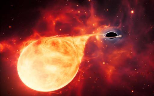 Hubble encontra evidências de raro buraco negro de massa intermediária