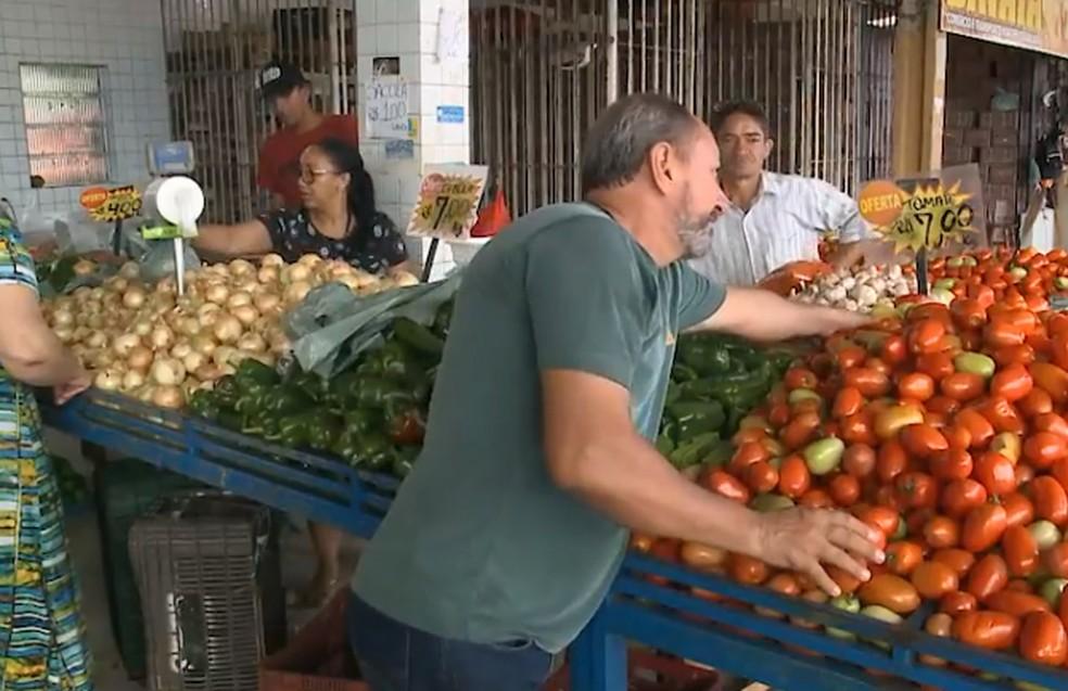Ceasa em São Luís é reabastecida, mas preços aumentam (Foto: Reprodução / TV Mirante)
