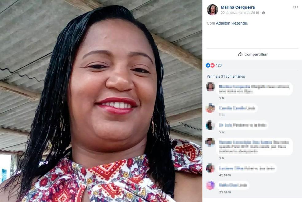 Marina Cerqueira, de 41 anos, morreu após ser espancada pelo companheiro (Foto: Reprodução / Facebook)