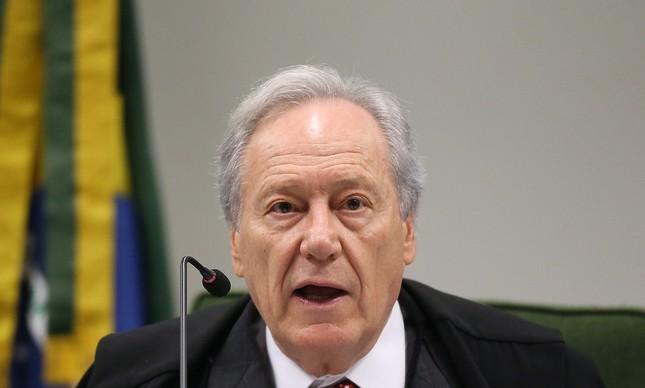 O ministro Ricardo Lewandowski, do Supremo Tribunal Federal (STF)