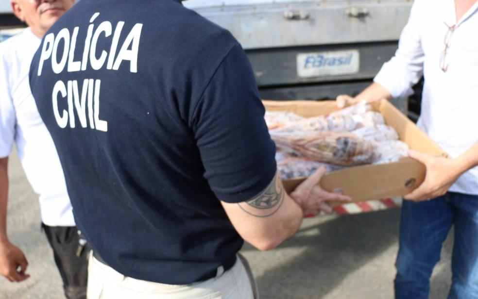 Parte da carga foi recuperada em Salvador (Foto: Divulgação/ SSP-BA)