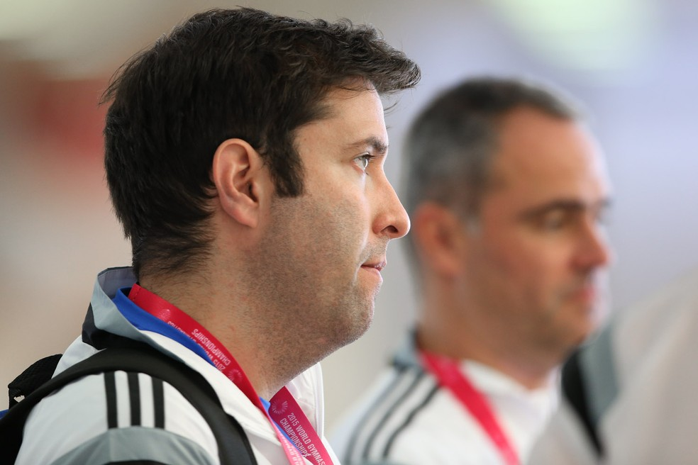Fernando de Carvalho Lopes em evento com a seleção brasileira, em 2015 — Foto: Ricardo Bufolin/CBG