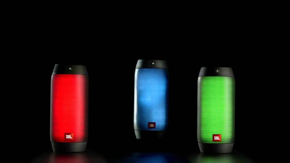LEDs coloridos da JBL Pulse 2 (Foto: Divulgação/JBL)