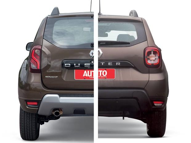 Novo Renault Duster Traseira Comparação (Foto: Autoesporte)