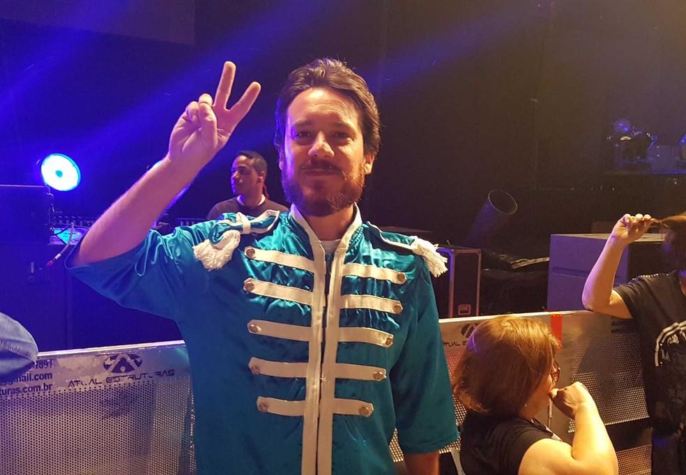 Matias Ghelfi saiu de Porto Alegre para assistir ao show de Paul McCartney em Belo Horizonte. (Foto: Thais Pimentel/G1)