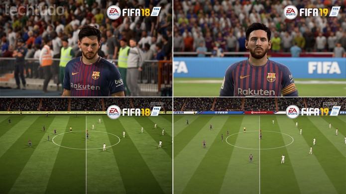 FIFA 19 x FIFA 18 (Foto: Reprodução/Murilo Tunholi)