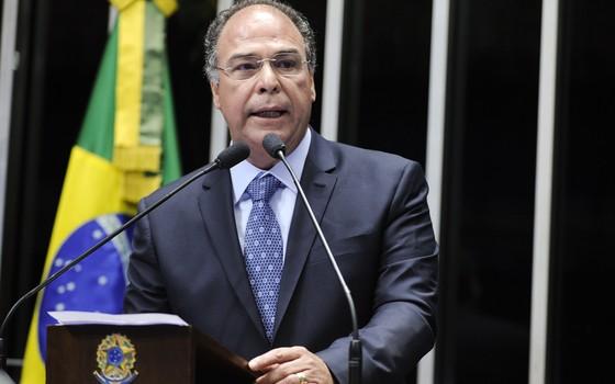 O senador Fernando Bezerra Coelho (PSB-PE), em discurso no Senado em 2015 (Foto:  Moreira Mariz/Agência Senado)