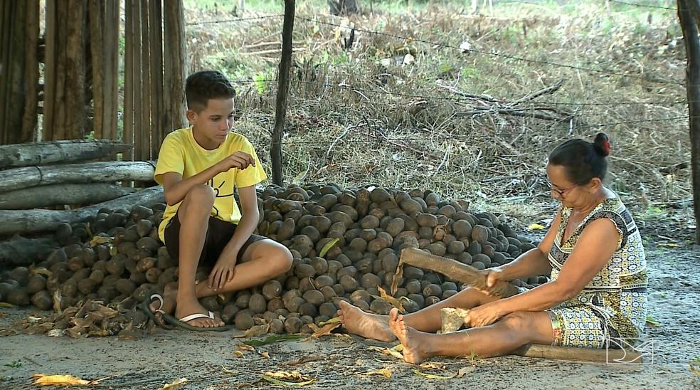 Danilo e a avó vivem uma vida pobre na zona rural de São Mateus, no norte do Maranhão — Foto: Reprodução/TV Mirante