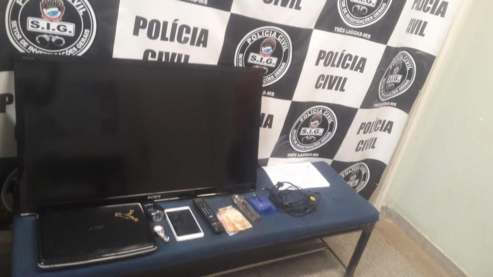 -  Materiais furtados que já estavam com receptadores em MS  Foto: Polícia Civil/Divulgação