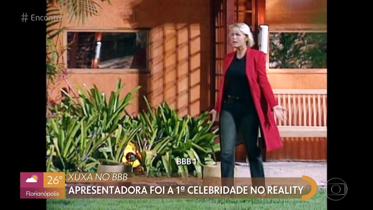 Xuxa foi a primeira celebridade a visitar a casa do BBB 1