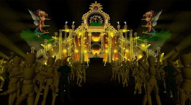 Projeto do palco de Ivete Sangalo no San Island Weekend (Foto: Divulgação)