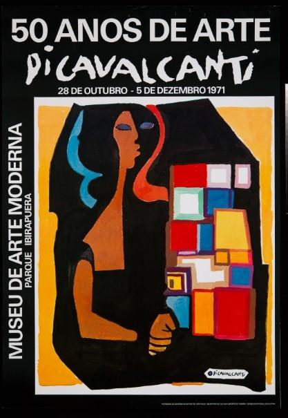 Cartaz de exposição de Di Cavalcanti, de 1971 (Foto: Divulgação)