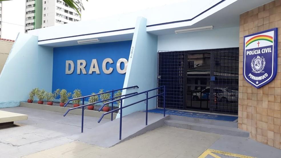 Departamento de Repressão à Corrupção e ao Crime Organizado (Draco), no bairro de Tejipió, no Recife — Foto: Marina Meireles/G1