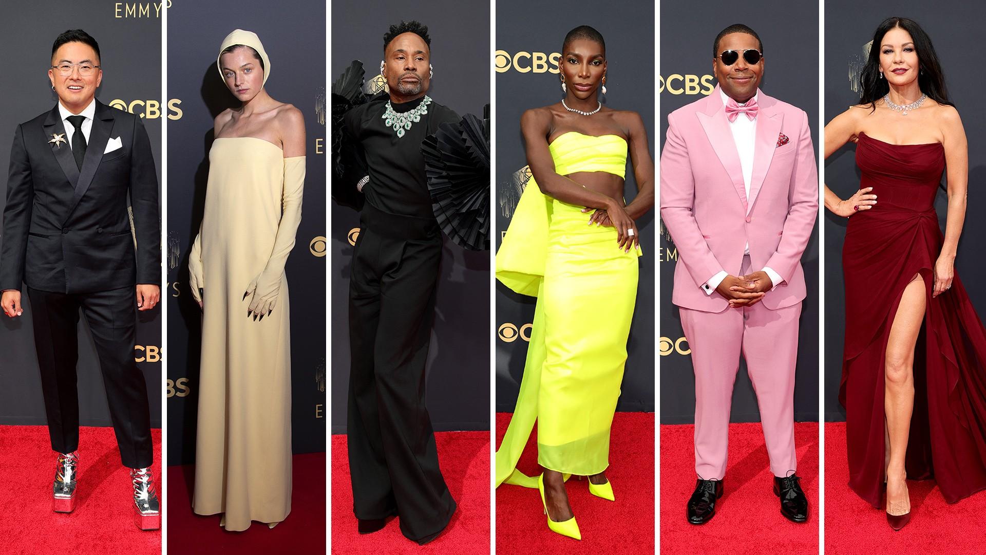 Emmy 2021: Volta do glamour e ousadia masculina marcam looks no tapete vermelho