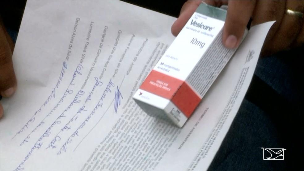Remédios chegaram bem menos da metade do que  precisam as pessoas diariamente (Foto: Reprodução/TV Mirante)