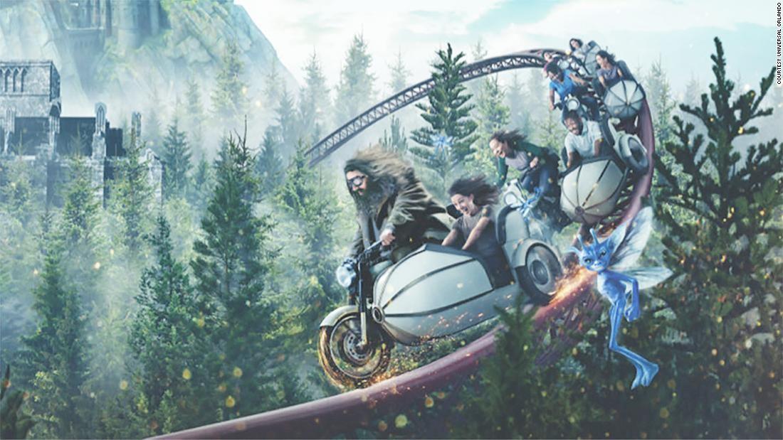 Arte conceito da montanha-russa do Hagrid (Foto: Divulgação)