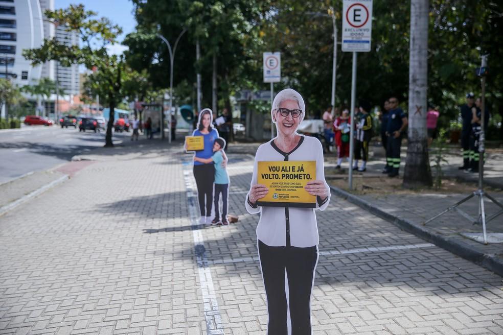 O objetivo do ato é promover uma maior conscientização dos motoristas sobre o cumprimento às normas exigidas no Código de Trânsito Brasileiro (CTB). — Foto: Helene Santos/ SVM