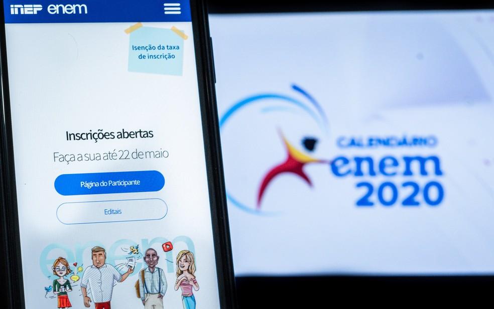 Enem 2020 foi adiado por causa da pandemia do coronavírus — Foto: Antonio Molina/Fotoarena/Estadão Conteúdo