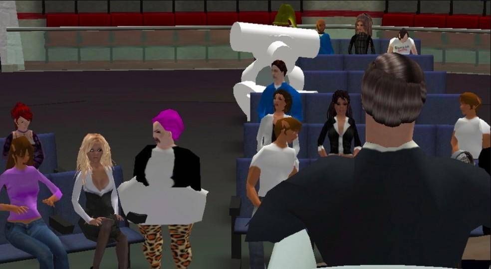 Second Life foi palco de um discurso político em 2006 — Foto: Reprodução/Alphaville Herald