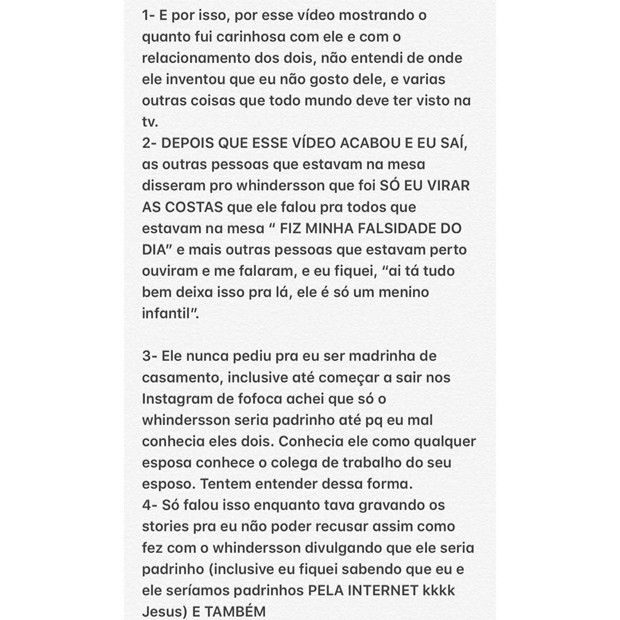 Luisa Sonza se pronuncia no caso de briga entre Whindersson Nunes e Carlinhos Maia (Foto: Reprodução / Instagram)