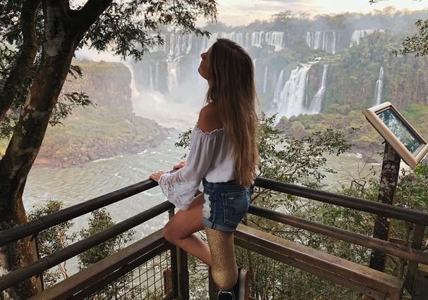 Paola Antonini em Foz do Iguaçu (Foto: Instagram/Reprodução)