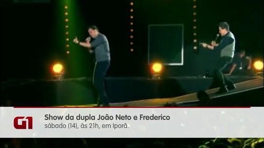 Dupla João Neto e Frederico se apresenta em Iporã neste sábado (14); dicas