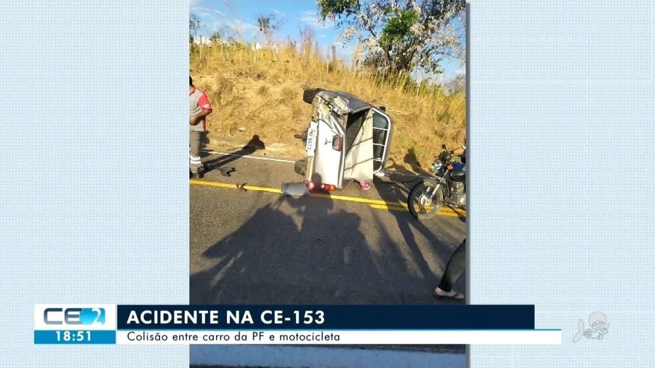 Acidente na CE 153 deixa 6 pessoas feridas em Cedro