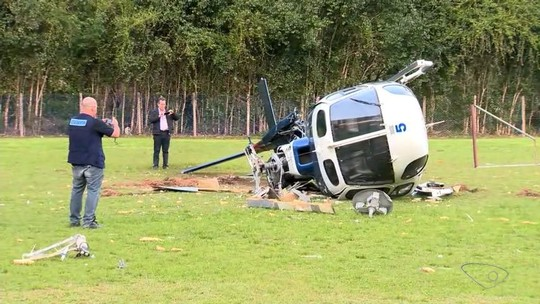 Trave no meio do campo é principal causa para acidente com helicóptero de Hartung