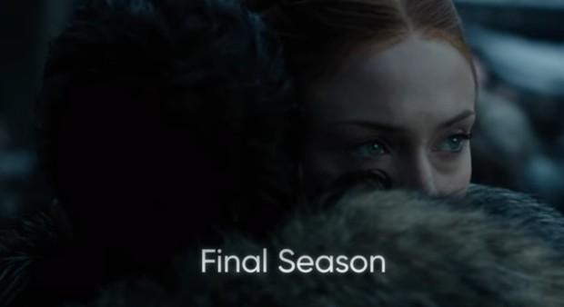 Kit Harington e Sophie Turner em Game of Thrones (Foto: Divulgação/HBO)