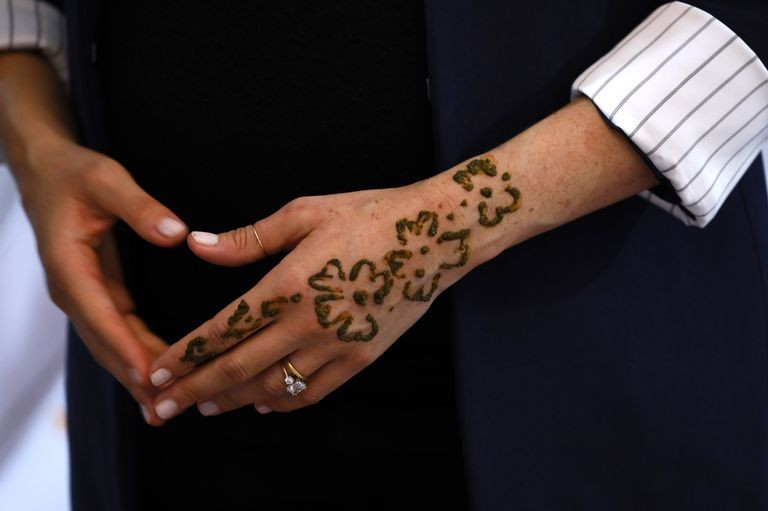 Tatuagem de henna de Meghan (Foto: Reprodução Instagram)