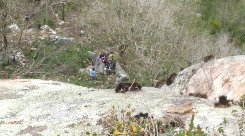 Mulher caiu da rampa do Pepê (Foto: Fernando Lagosta/Blog do Ney Lima)