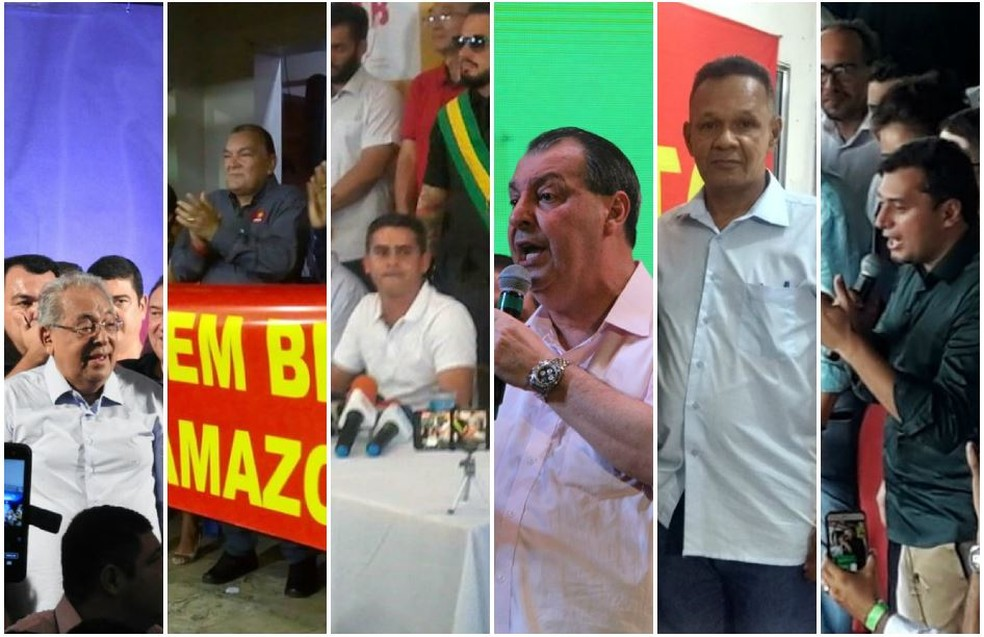 Seis candidatos estão na disputa pelo governo do Amazonas nas eleições 2018 (Foto: G1 AM)