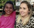 Talita Cantori na época de 'Sandy & Junior' e hoje em dia | TV Globo / Reprodução Instagram