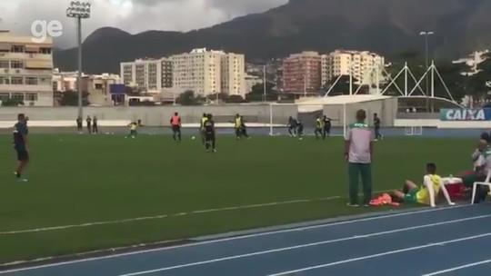 Com Luis Ricardo e Marcos Vinícius, Bota empata com Portuguesa em jogo-treino